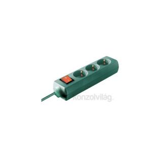 Emos P1323Z Kapcsolós hosszabbító 3CS/3M zöld