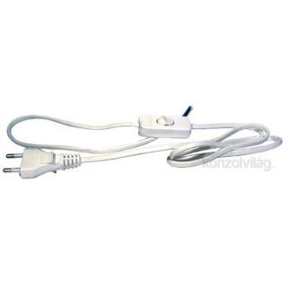 Emos S08272 Flexo 2 méter fehér kapcsoló kábel PC