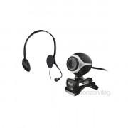Trust Exis Pack 640x480 mikrofonos fekete fejhallgató + webkamera PC