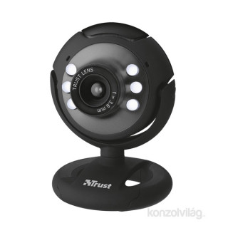 Trust SpotLight 640x480 mikrofonos fekete webkamera PC