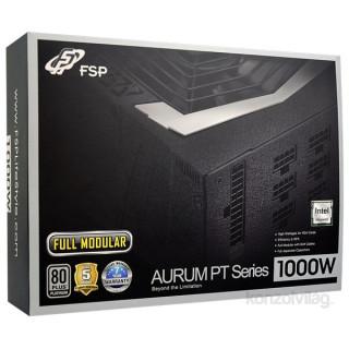 FSP Aurum PT 1000W fekete Gamer 80+ Platinum tápegység PC