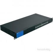 Linksys SMB LGS124P 24port POE+ 10/100/1000Mbps LAN nem menedzselhető asztali Switch PC