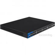 Linksys SMB LGS552P 48port POE+ GbE LAN 2port GbE combo RJ45/SFP és 2port 10GbE SFP+ L2 menedzselhető Switch PC