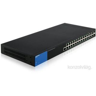 Linksys SMB LGS528 26port GbE LAN 2port GbE combo RJ45/SFP L2 menedzselhető Switch PC
