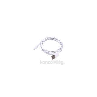 iTotal CM2390LW USB / micro USB textil borítású fehér kábel PC