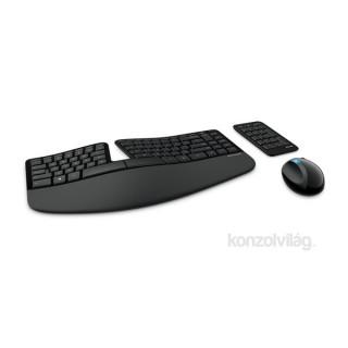 Microsoft Sculpt Ergonomic Desktop wless Fekete Dobozos HUN Egér kombó billentyűzet PC