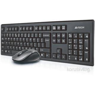 A4-Tech 7100N wless fekete HUN egér kombó billenytűzet PC