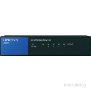 Linksys SMB LGS105 5port 10/100/1000Mbps LAN nem menedzselhető asztali Switch PC