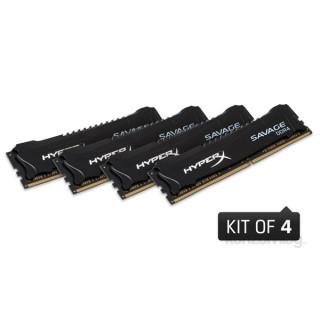 Kingston 16GB/3000MHz DDR-4 (Kit 4db 4GB) HyperX Savage Fekete XMP (HX430C15SB2K4/16) memória PC