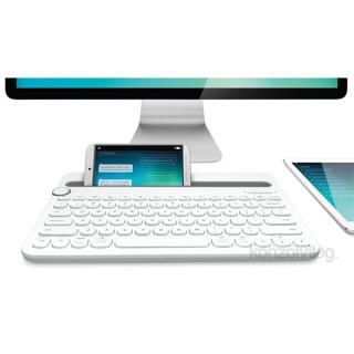 Logitech K480 Multi-device fehér Bluetooth US billentyűzet