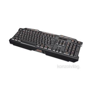 Trust GXT 280 LED USB fekete HUN világító gamer billentyűzet PC