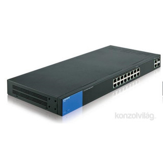 Linksys SMB LGS318P 16port (+2 combo RJ45/SFP) POE+ GbE LAN Smart menedzselhető asztali Switch