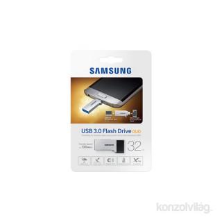 Samsung Duo 32GB USB3.0 + Micro USB Ezüst (MUF-32CB/EU) Flash Drive PC