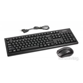 A4-Tech 3000N wless fekete HUN egér kombó billenytűzet PC