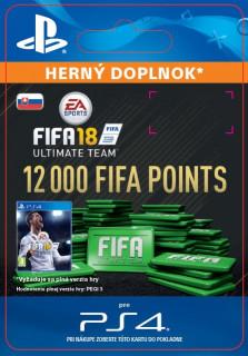 ESD SK PS4 - 12000 FIFA 18 Points Pack (Kód na stiahnutie) PS4