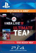 ESD SK PS4 - EA SPORTS™ NBA LIVE 18 ULTIMATE TEAM™ - 1050 NBA POINTS (Kód na stiahnutie) PS4