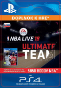 ESD SK PS4 - EA SPORTS™ NBA LIVE 18 ULTIMATE TEAM™ - 5850 NBA POINTS (Kód na stiahnutie) PS4
