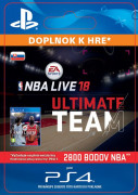 ESD SK PS4 -EA SPORTS™ NBA LIVE 18 ULTIMATE TEAM™ - 2800 NBA POINTS (Kód na stiahnutie) PS4